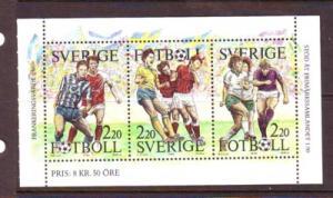Sweden Sc 1708a 1988 Soccer booklet pane mint NH