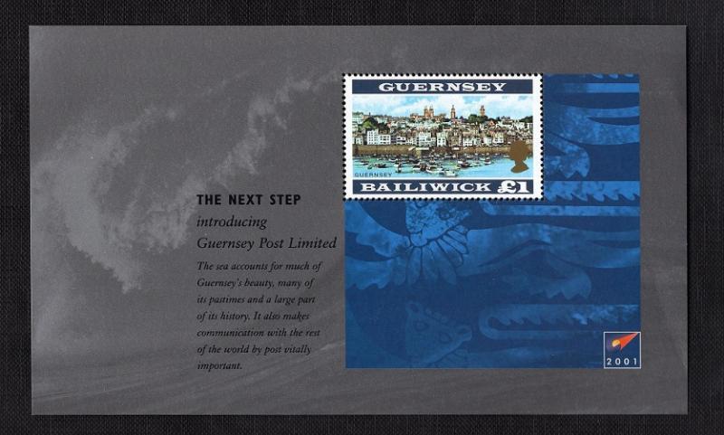 Guernsey   #749  2001   MNH  change to post ltd booklet pane £1