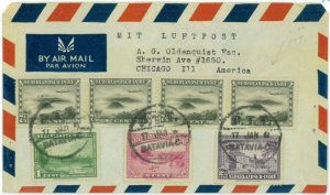 93717 - DUTCH INDIES  - POSTAL HISTORY - Airmail COVER   to USA 1947