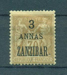 French Offices in Zanzibar sc# 23 mh cat val $12.00