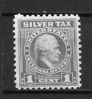 United States RG108 Silver Tax single MNH