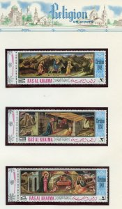 RAS AL KHAIMA  1968 CHRISTMAS SET  MINT NEVER HINGED