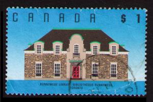 CANADA 1989 $1 #1181 RUNNYMED LIBRARY SEE SCAN (V695)