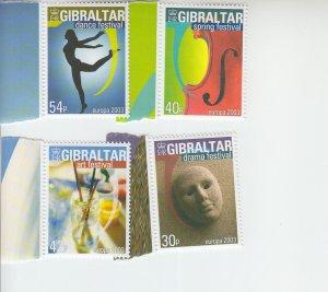 2003 Gibraltar Europa Festivals (Scott 928-31) MNH