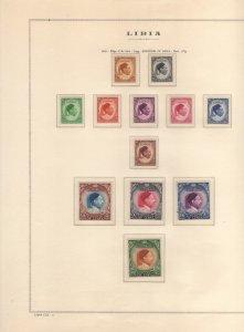 LIBIA LIBYA 1952 1969 COLLEZIONE COMPLETA SU FOGLI MARINI COMPLETE COLLECTION...