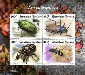 Togo Stamps 2019.- Beetles. Imperf.