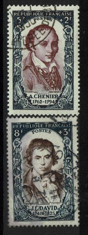 France SC# B249 and B250, Used - S1638