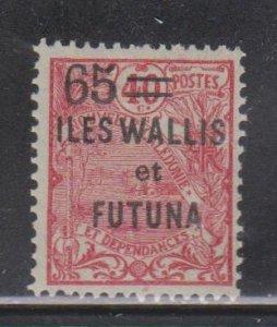 WALLIS & FORTUNA ISLANDS  Scott # 35 MH - Overprint & Surcharge