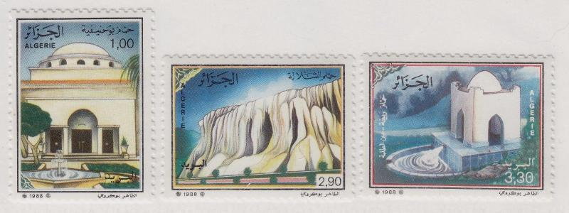 ALGERIA MNH Scott # 869-871 Springs, Caverns, Fountains (3 Stamps)
