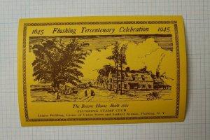 1945 Flushing Tercentenary CelebrationThe Bowne House Philatelic Souvenir Ad