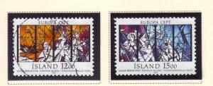 Iceland Sc 639-40 1987 Europa stamp set used