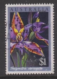 Australia 1986 Orchids $1 Hi Value VFU