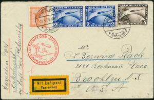 LZ127 SOUTH AMERICAN FLIGHT COVER GERMANY TO USA HV4100A
