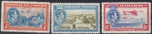 Bahamas #106-8  F-VF  Unused CV $8.70  (Z2469)