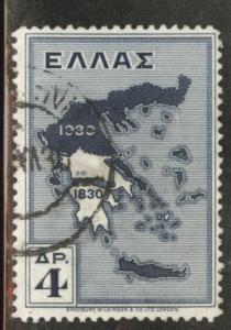 Greece Scott 359 used 1930 map stamp CV$3