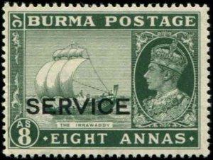 Burma SC# O23 KGV Official 8As  MVLH