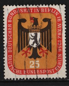 Germany (Berlin) 1956 Meeting of German Bundestag in Berlin 25pf (1/2) USED