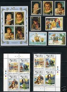 NIUE  LOT OF MINT NH STAMPS