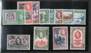 British Honduras #115 - #126 Very Fine Never Hinged Set