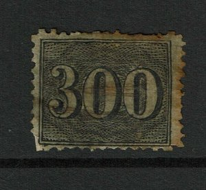 Brazil SC# 50, Used, large Hinge Remnant, perf 14, heavily toned - S9244