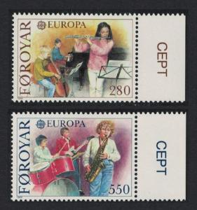 Faroe Is. Music Europa CEPT issue 1985 2v margins SG#113-114 SC#125-126