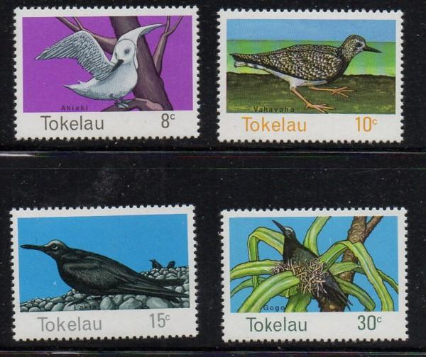 Tokelau Islands Sc 57-60 1977 Birds stamp set mint NH