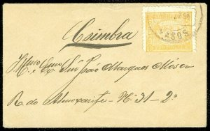 EDW1949SELL : PORTUGAL Scott #67 on neat 1894 Internal cover.
