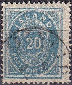 Iceland #17  F-VF Used  CV $50.00  (K2930)