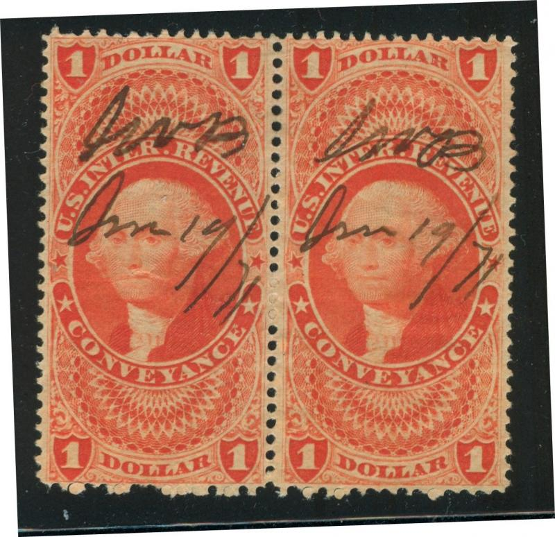 U.S. - R66c - Pair - Fine/Very Fine - Used