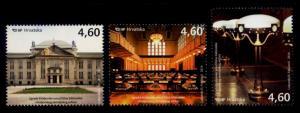 Croatia Sc# 934-6 MNH Royal University Library