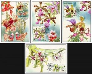 Czech Republic. 2012. Beauty of Orchids (Mint) Set of 4 Maxi Cards