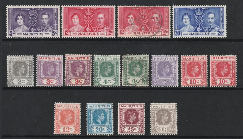 Mauritius a small mainly MH lot KGVI