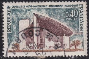 France 1101 USED 1965 Notre Dame du Haut Ronchamp 40c