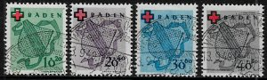 Germany: Baden #5NB1-4 Canceled Set - Coat of Arms