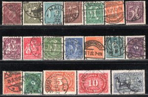 Germany Reich Scott # 137 - 155, used, all exp h/s