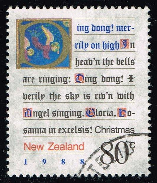 New Zealand #910 Christmas Carols; Used (1.00)