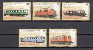 Sahara, 1992 Cinderella issue. Electric Trains issue.