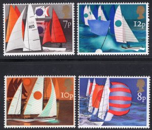 Great Britain MNH 745-8 Europa Sailboats 1975