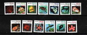 Palau-Sc#9-21-Unused NH set-Fish-Marine Life-1983-4-