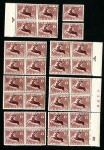 South Africa Stamps # 209 VF Lot of 30 OG NH Scott Value $60.00