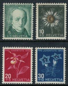 Switzerland #B126-9* NH  CV $3.25
