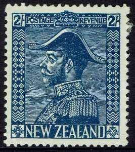 NEW ZEALAND 1926 KGV ADMIRAL 2/- WMK INVERTED