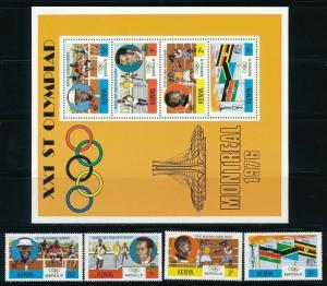 Kenya - Montreal Olympic Games MNH Set (1976)