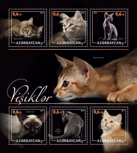 AZERBAIJAN 2017 SHEET CATS azrb17202a
