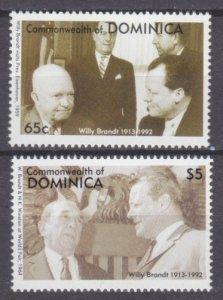 1993 Dominica 1715-1716 Nobel laureates / Willy Brandt 7,00 €