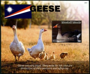 HERRICKSTAMP NEW ISSUES MARSHALL ISLANDS Geese Souvenir Sheet