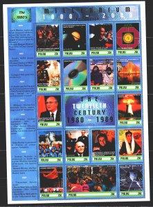 Palau. 2000. ml 1604-20. Millennium, Rossika, Gorbachev, Reagan, Internet. MNH.