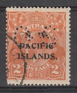 NWPI NEW GUINEA 1919 KGV OS 2D ORANGE