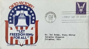 Fleetwood L. W. Staehle 905 Win the War TA Bodey Stamp Editor Columbus Dispatch