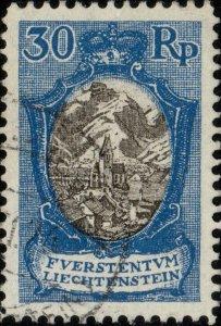 LIECHTENSTEIN - 1925 - Mi.64 30rp landscape & buildings - very fine used